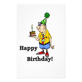 Birthday Cake -  Man Stationery