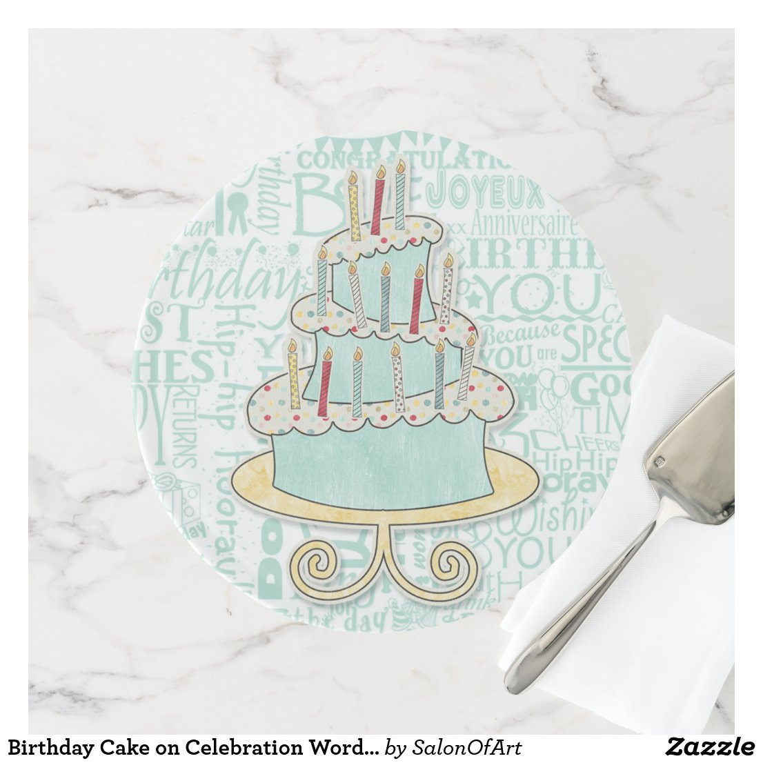 Birthday Cake on Celebration Word Art
