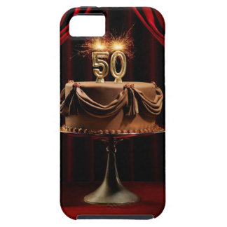 BIrthday Cake on Stage with number 50 candles iPhone SE/5/5s Case