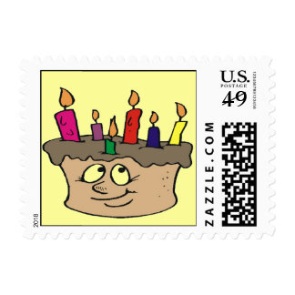 Birthday Cake Party Postage Stamps