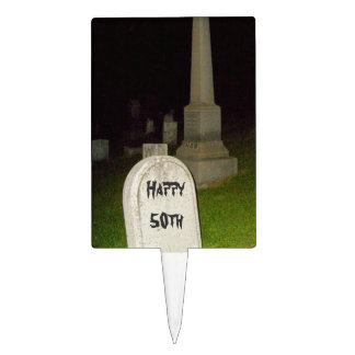 Birthday Cake Picks Humor Insult Cemetery