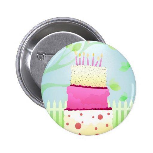 Birthday cake pins