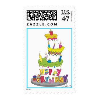 Birthday Cake Postage Stamp
