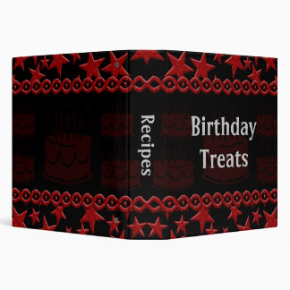 Birthday Cake Rock Star In Red Recipe Binder