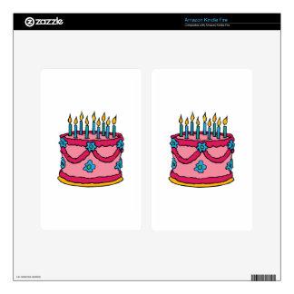 Birthday Cake Kindle Fire Skin