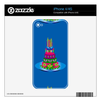 Birthday Cake Skin on iPhone 4/4S Skins For The iPhone 4S