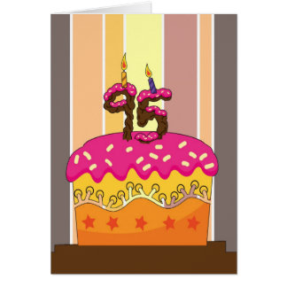 birthday - cake with candles 95 - 95th birthday gr greeting cards