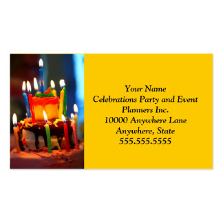 Birthday Cake with Candles Business Card