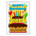 birthday cake with candles - happy 100th birthday greeting card