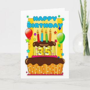 Superb 35Th Birthday Cake Gifts On Zazzle Personalised Birthday Cards Sponlily Jamesorg