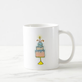 BIRTHDAY cake with twirly curly candles Coffee Mug