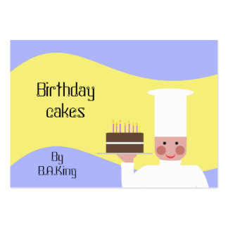 Birthday cakes By B.A.King Large Business Card