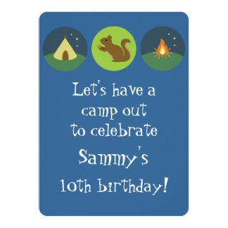 Birthday Camp Out Card