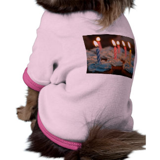Birthday Candle Cupcakes Pet T-shirt