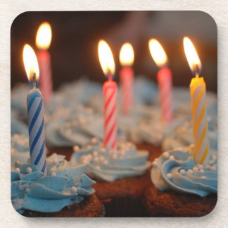 Birthday Candle Cupcakes Drink Coaster