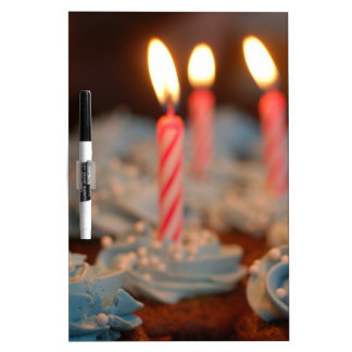 Birthday Candle Cupcakes Dry-Erase Board