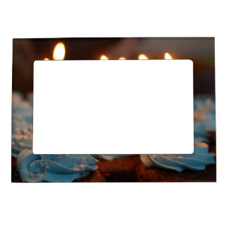 Birthday Candle Cupcakes Magnetic Picture Frame