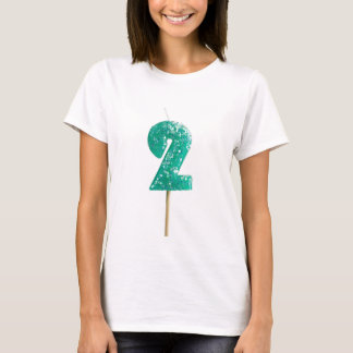 Birthday candle number 2 T-Shirt