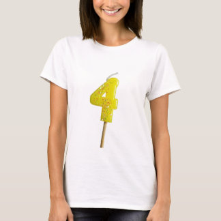 Birthday candle number 4 T-Shirt