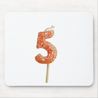 Birthday candle number 5 mouse pad