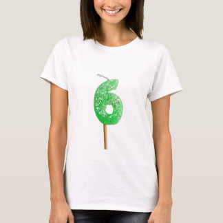 Birthday candle number 6 T-Shirt