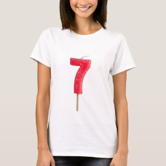 Birthday candle number 7 T-Shirt