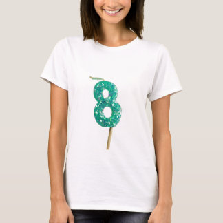 Birthday candle number 8 T-Shirt