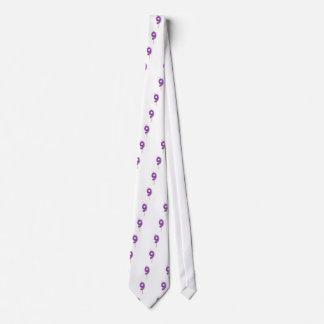 Birthday candle number 9 neck tie
