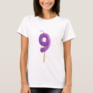 Birthday candle number 9 T-Shirt