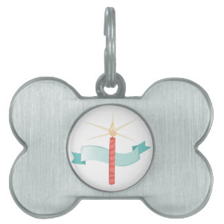 Birthday Candle Pet ID Tag