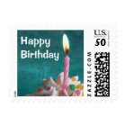 Birthday Candle Postage Stamp