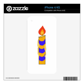 BIRTHDAY CANDLE iPhone 4S DECAL