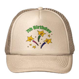 Birthday Candles 7th Birthday Gifts Trucker Hat