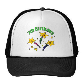 Birthday Candles 7th Birthday Gifts Trucker Hat