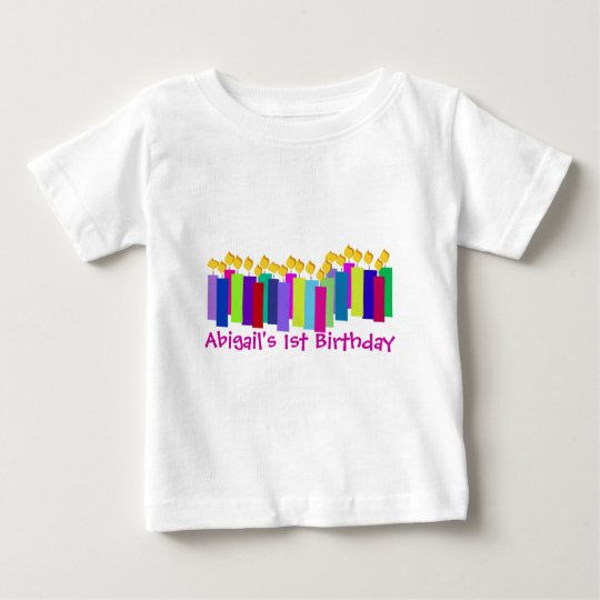 Birthday Candles Baby T-Shirt