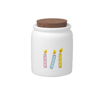 BIRTHDAY CANDLES CANDY DISH