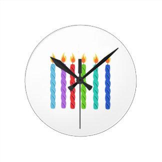 Birthday Candles Wall Clocks