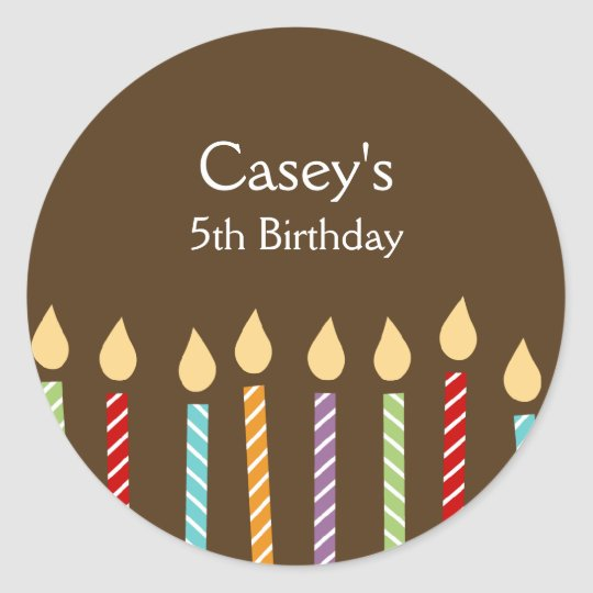 Birthday Candles Favor Stickers