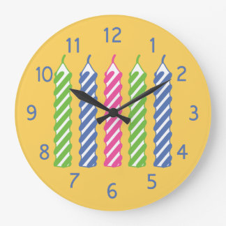 Birthday Candles Large Clock