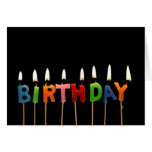 Birthday Candles Note Cards