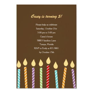Birthday Candles Party Invitation