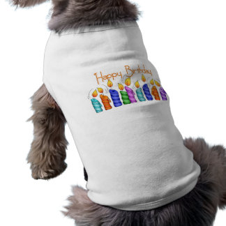 Birthday Candles Pet Clothing
