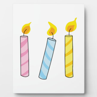 BIRTHDAY CANDLES PLAQUES