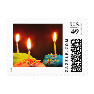 Birthday Candles Postage Stamps