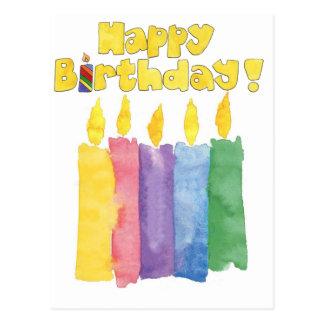 birthday candles postcard