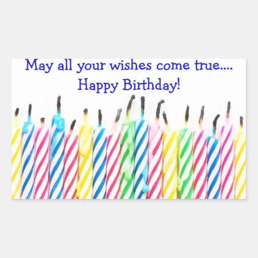 Birthday Candles Rectangular Sticker