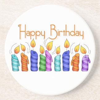 Birthday Candles Sandstone Coaster