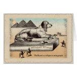 Birthday card  -Basset sphinx