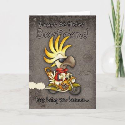 Birthday Card - Boyfriend Birthday Card - Cockatoo Birt