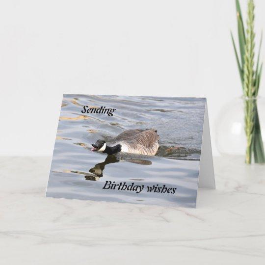 Birthday Card Canada Goose